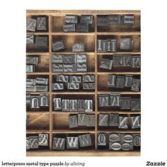 letterpress metal type puzzle