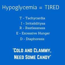 Hypoglycemia acronym