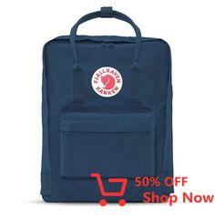 Shop this classic Kanken backpack for style and function. This Kanken backpack features the Fjallraven Kanken logo on front and adjustable shoulder straps.