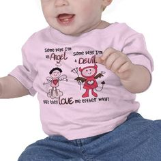Angel Devil T-shirt    Find lots of other kids gifts and apparel at http://www.zazzle.com/toddlersplace?rf=238785193994622463