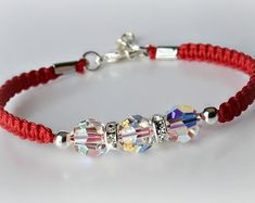 Items similar to Clear Crystal Bracelet on Etsy Swarovski Bracelet, Crystal Bracelets, Crystal Jewelry, Sterling Silver Bracelets, Swarovski Crystals, Handmade Beaded Jewelry, Diy Jewelry, Jewelry Bracelets, Jewelry Accessories