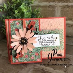 "Pam Jorgensen shared a post on Instagram: ""I love fun fold cards and this one is SO fun and easy using the Ornate Garden Suite from Stampin'…"" • Follow their account to see 41 posts."