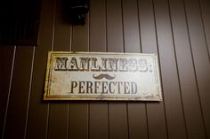 #Manliness is of course perfected with this sign in Vizcaya's Groom's Lounge! Photo taken by @lizzimbelman photography. #vizcayasac #sacramentoweddingvenue