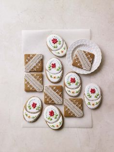 Prue's Iced Ginger Biscuits - From the Great British Bake Off