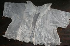 Beautiful Antique Lace Baby Jacket  1800s by AVintageSeason