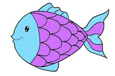 Dessiner un poisson: étape 5: coloriage en bleu et violet Violet, Cinderella, Disney Characters, Fictional Characters, Disney Princess, Art, Learn To Draw, Color Pencil Picture, Pencil Drawings