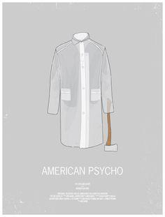 americanpsycho1 48 Minimal Movie Poster Designs