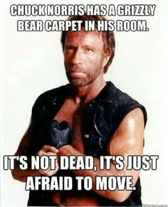 Hahaha if it doesn't move than Chuck can't pulverize it lol