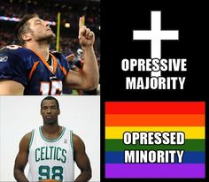 Christians are outraged that the media mocks Tim Tebow for being a Christian while they praise Jason Collins for being gay. Heres the difference. - Imgur