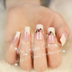 Aliexpress.com : Buy High quality french manicure false nail,natural color fake nails,wedding Beautiful Bride 3d acrylic nails tips,free shipping from Reliable nail polish suppliers on Jessie's shop. $8.18