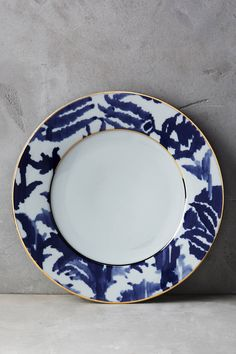 Explore Side, Dessert & Canape Plates at Anthropologie, from everyday classics to one-of-a-kind styles. Dinner Table, Dinner Plates, Kitchenware, Tableware, Mood Images, Chinese Furniture, Plate Design, Blue China, Finding A House