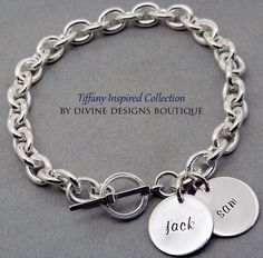 A personal favorite from my Etsy shop https://www.etsy.com/listing/211449248/name-bracelet-personalized-jewelry