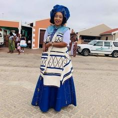 White & blue African Wedding Dress, African Print Dresses, African Print Fashion, African Fashion Dresses, African Dress, Wedding Dresses, Xhosa Attire, African Attire, African Wear