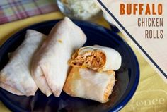 Buffalo Chicken Rolls - S with egg white wraps