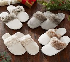 Faux Fur Slippers #potterybarn size medium yes please!!!!!!!!!!!!