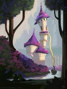 Mauricio Abril Art — Rapunzel's Tower