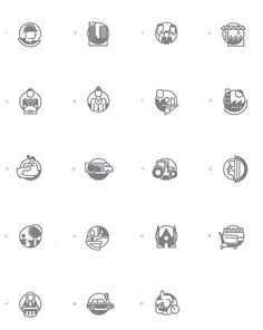Iconset CBS by Floris Voorveld, via Behance