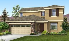 The Kingston 2007 with additional brick exterior and brown shutters!