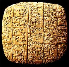 Tablet 4 of Gilgamesh, 669-627 B.C.' the collection of more than 30,000 clay tablets is now in the British Museum.