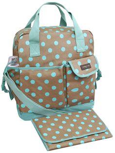 Zoe Baby Changing Bag - Polka Dots