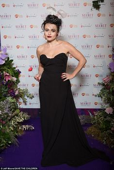 Uber glam: Helena Bonham-Carter pulled it out of the bag in the style stakes as she stepped out at a charity event in London on Wednesday