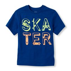 Boys Short Sleeve 'Skater' Graphic Tee