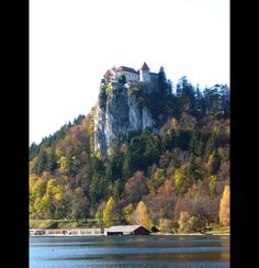 The medieval Bled Castle sits 427 feet up above Lake Bled.