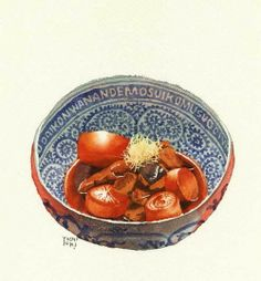 Watercolor Food, Watercolour, Food Sketch, China Food, Food Painting, Food Icons, Fake Food, Food Drawing, Kitchen Art