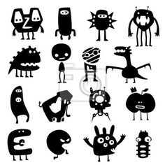 Stickers , monster, demon - funny monsters in PIXERS offer. Product is made on the basis of artistic photos, from the best fabrics.