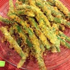"Green Bean Fries | ""These were awesome! I made cucumber and wasabi dip like they make at TGIFridays to go with them."""