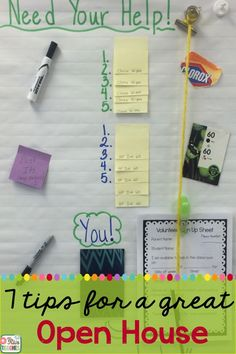 Mrs Rios Teaches: Activities, Ideas, and Tips for a Great Open House / Parent Night with Freebie
