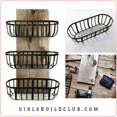 Farmhouse Baskets, Country Farmhouse Decor, Kitchen Baskets, Farmhouse Style, Modern Cabin Decor, Rustic Cabin Decor, Rustic Cabins, Lodge Decor, Log Cabins
