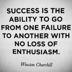 Success with failure