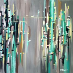City Limits Abstract Painting by ecooperstudio on Etsy