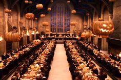 The great hall. Halloween