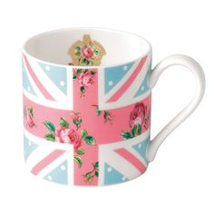 Features:  -Material: Fine bone china.  -Dishwasher safe.  -Contemporary style.  Product Type: -Coffee mug.  Color: -Multi.  Material: -China.  Style: -Contemporary.  Pattern: -Floral. Dimensions:  Cu