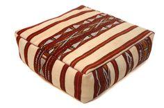 Moroccan Cushion Wool Square Pouf 24 OTTOMAN by Beniouraincarpets