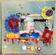 Great energy on this page, love the paint, mists, twine and doileys!