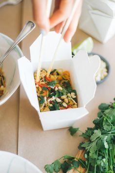 Cashew Veggie Pad Thai made in the Vitamix