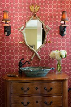 rustic bathroom vanities old dressers powder rooms baby girl room ideas pink grey chandeliers Rustic Vanity, Rustic Bathroom Vanities, Rustic Bathrooms, Wood Bathroom, Granite Bathroom, Tiny Bathrooms, Modern Bathrooms, Bathroom Ideas, Colors
