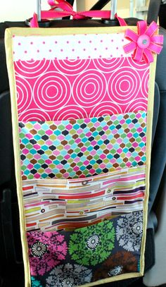 book holder for the car - tutorial