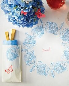diy Stamped Tablecloth for parties and weddings