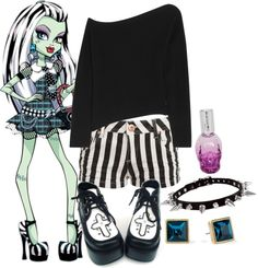 """""""Monster High ~ Frankie Stein"""" by perfection-sets ❤ liked on Polyvore"""
