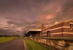 Another view of the old Koroit Railway Station and platform. The line has been removed and replaced with a sealed bicycle / pedestrian path now.  #koroit #destinationwarrnambool #visit12apostles #greatoceanroad #visitvictoria #sky_sultans #epic_captures #iloveaustralia #wow_australia #sunset_stream #FocusAustralia #aussiephotos #australiagram #ICU_sunset #exploreaustralia #world_bestsky #igworldclub_sky #sky_brilliance #super_photosunsets #sunset_hub #sunset_vision #australia_shotz…