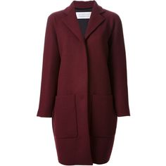 Gianluca Capannolo Egg Shaped Coat ($895) ❤ liked on Polyvore featuring outerwear, coats, jackets, coats & jackets, red, red coat, wool blend coat and burgundy coat
