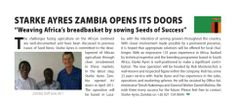 Stark Ayres Zambia now open! #goingglobal #business #StakAyres #hotnews #press #seedsofsuccess