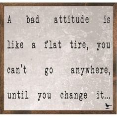 Forest Creations MAP34 Magnet Art Print - A Bad Attitude Is Like A Flat Tire., As Shown