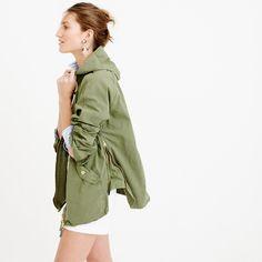 Convertible zip anorak jacket : trenches & anoraks   J.Crew