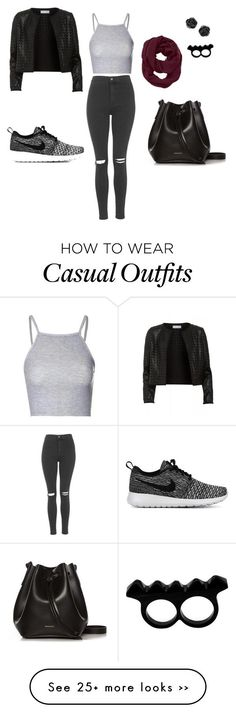 casual by gthang007 on Polyvore featuring Glamorous, Topshop, Maglie I Blues, NIKE, Rachael Ruddick, Athleta and LArtisan Créateur