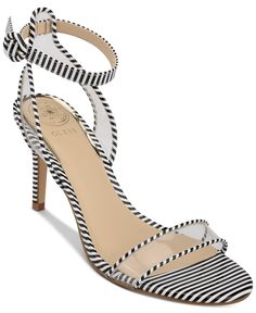 Clearly cool, the sleek see-through shape of the Guess Artula ankle-strap sandals is outlined in contrast trim atop slender heels. Ankle Straps, Ankle Strap Sandals, Black Sandals, Black Shoes, Shoes Sandals, Heels, Casual Loafers, Casual Sneakers, Shoes Photo